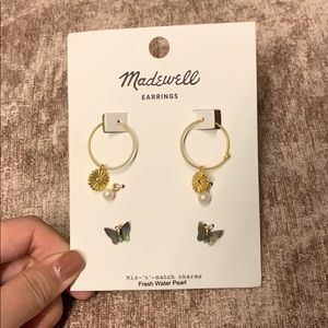 Madewell Mix-n-match charms fresh pearl earring
